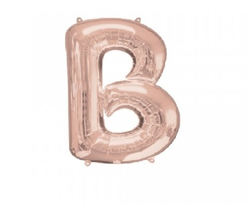 "Rose Gold Letter B Balloon - 34"" Foil"