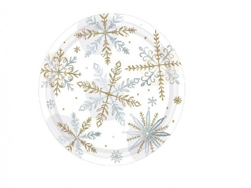 Let It Snow Metallic Plate - 19cm